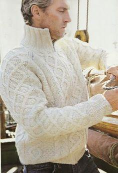 Esquemas | CTejidas: Suéter Hombre -> http://esquemas.ctejidas.com/2014/07/sueter-hombre.html