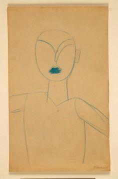 Constantin Brancusi (French, born Romania, Study for the sculpture… Sound Sculpture, Sculpture Art, Rodin, Egon Schiele Drawings, Modern Art, Contemporary Art, Constantin Brancusi, Wax Crayons, Alfred Stieglitz