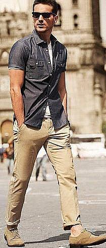 Americana de lino. Camisa blanca de lino. Pantalón. Cinturón ...