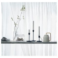 VATTENKRASSE Watering can, ivory, gold. The idea with this watering can is that it looks so good that you happily leave it out on display when not using it. Ikea Candle Holder, Chandeliers, Ikea 2018, Ikea Candles, Recycling Facility, Scandi Home, Decoration Plante, New Condo, Ivoire