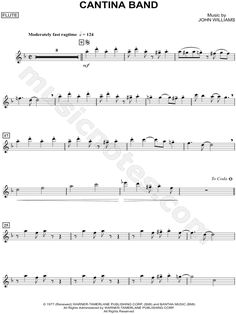 """Cantina Band - Flute"" from 'Star Wars' Sheet Music (Flute Solo) in F Major - Download & Print"