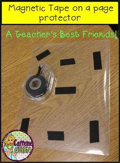 Magnetic Tape is a Teacher's Best Friend! Caffeine Queen Teacher's Blog