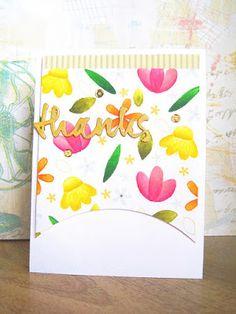 Thanks card by Ashwini - Paper Smooches