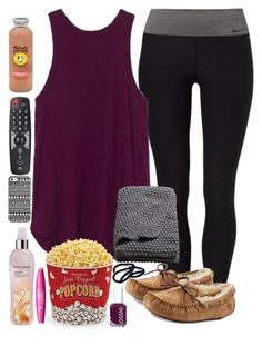 """""""Sunday....."""" by lovemyariana ❤ liked on Polyvore featuring NIKE, Essie, UGG Australia, Hansen, Uncommon, H&M, West Bend and Bodycology"""