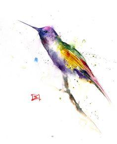 HUMMINGBIRD Original Watercolor Painting By Dean by DeanCrouserArt, $110.00