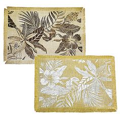 Bring the island feel to you with the Tommy Bahama Tropics Placemat. Crafted of thick, durable jute and trimmed in tropical-style fringe, this charming placemat helps to create a relaxed, laid-back dining experience.