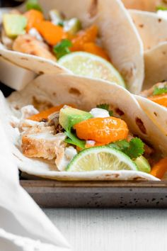Simple Fish Tacos with Clementine Salsa - Sprinkles & Sea Salt Fish Tacos With Cabbage, Easy Fish Tacos, Cabbage Slaw, Fish Recipes, Seafood Recipes, Beef Recipes, Fish Taco Sauce, Spicy Salmon, Tacos And Burritos