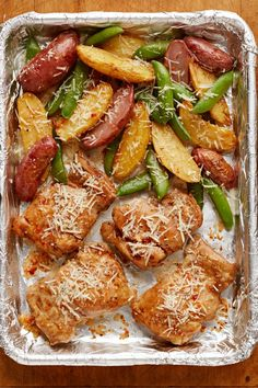 One-Pan Chicken and Potatoes with Snap Peas – Make an assortment of protein, veggies, and savory seasonings for your dinner table and see why this recipe will be one of your new favorites. Plus, you can meal prep this one-pan dish ahead of time!