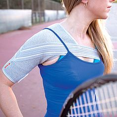 Unisex-style shoulder brace is designed to help relieve pain from rotator-cuff injuries, tendonitis, frozen shoulder, and more.