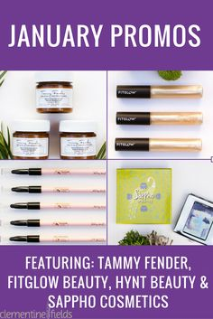 It's a month of green beauty promotions! Featuring Tammy Fender, Fitglow Beauty, Hynt Beauty and Sappho Cosmetics. See them all here: http://www.clementinefields.ca/pages/promotions