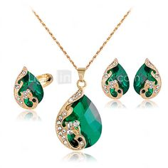 Lucky Doll Crystal / Alloy / Rhinestone / Rose Gold Plated Jewelry Set 3 pcs Party / Daily 1set - USD $6.99