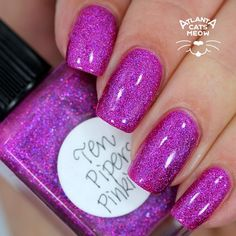 Lynnderella Ten Pipers Pinking over Orly Purple Poodle