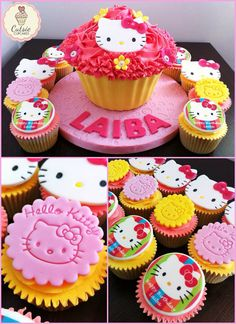 Cutsie Cupcakes - Hello Kitty Cupcakes  Giant Cupcake