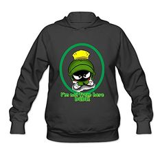 AK79 Womens Hooded Sweatshirt Marvin The Martian Size XL Black >>> You can find out more details at the link of the image.