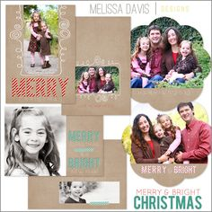 NEW 2012 Merry & Bright Christmas template set from Melissa Davis Designs!