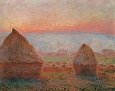 Haystacks at Giverny, the Evening Sun by @claude_monet #impressionism