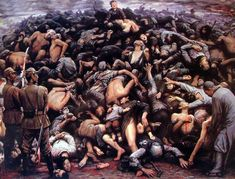 Zi Jian Li created the huge painting The Great Nanjing Massacre  in 1992 to commemorate the 300,000 Chinese people who were killed in the Gr...