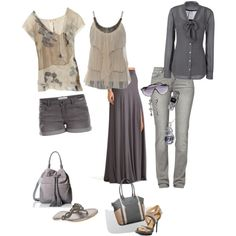 A fashion look from July 2014 featuring long length shirts, brown shirt and brown tank top. Browse and shop related looks.