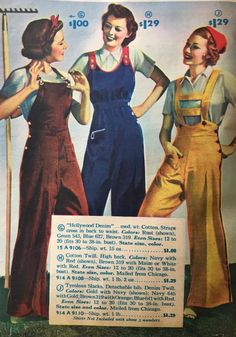 1937 Hollywood overalls and Tyrolian suspender pants