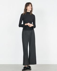 Image 1 of BELL SLEEVE TOP from Zara