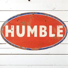 HUGE Distressed Humble Wall Decor