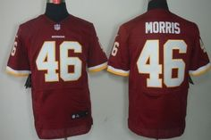 Nike Washington Redskins #46 Alfred Morris Red Elite Jersey