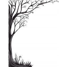 Resultado de imagen para diseño de hojas decoradas para imprimir blanco y negro
