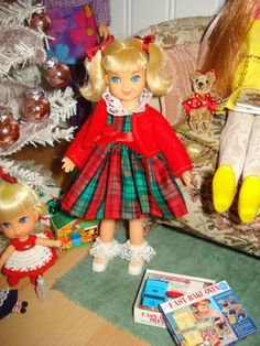 Tutti with 60's Christmas presents.