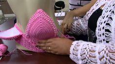 Mulher.com - 25/01/2016 - Cropped em crochê com pérolas - Eliete Massi PT2