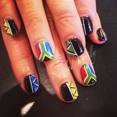 south african by jvnaildesign Beauty Bar, Hair Beauty, South African Flag, Art Afro, Flag Nails, Afro Punk, Nail Inspo, How To Do Nails, Nail Ideas