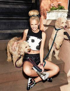 Nadine Leopold for Cosmopolitan August 2014