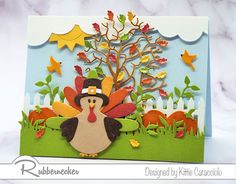 FS713, Fall Turkey Scene by kittie747 - FS Hostess at Splitcoaststampers Pumpkin Uses, Copic Sketch Markers, Thanksgiving Cards, Winter Trees, Fall Cards, Pretty Cards, Fall Pumpkins, Hand Coloring, Homemade Cards