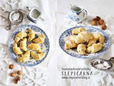 Svatomartinské rohlíčky s ořechovou náplní French Toast, Oatmeal, Breakfast, Sweet, Food, The Oatmeal, Morning Coffee, Candy, Rolled Oats