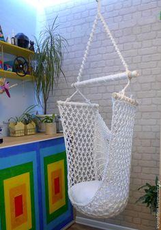 Мебель ручной работы. Ярмарка Мастеров - ручная работа. Купить SNOW. Подвесное кресло. Handmade. Кресло подвесное, загородный дом