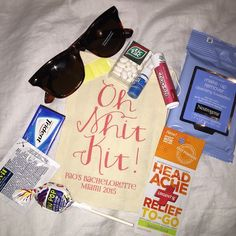 Diy hangover kit pinterest wedding destination wedding and checkout all the items that fit into our fab oh shit kits ohshitkit solutioingenieria Choice Image