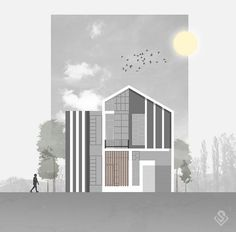 Free ideas every day Architecture Drawing Plan, Architecture Portfolio Layout, Conceptual Architecture, Architecture Collage, Architecture Drawing Sketchbooks, Architecture Visualization, Architecture Graphics, School Architecture, Photoshop