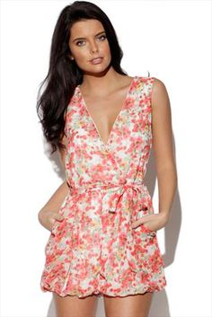 Just had to pin this Floral Playsuit from www.vestryonline.com