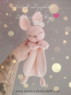Bunny Comforter - Crochet and Knitting Patterns Amigurumi Cuddle . Bunny Comforter - Crochet and Knitting Patterns Amigurumi Cuddle Cloth Bunny - Crochet and Knitting Patterns Al. Baby Knitting Patterns, Amigurumi Patterns, Crochet Patterns, Afghan Patterns, Embroidery Patterns, Knitting Ideas, Knitting Projects, Crochet Ideas, Bunny Crochet