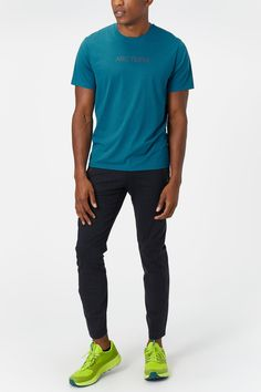 Your next hike or run is calling, and so is the ARC'TERYX Men's Remige Word Short Sleeve. This short-sleeve provides protection from the sun and exposure to ultraviolet radiation. - Shop with Free Shipping and Free Returns at Running Warehouse! - #patagonia #thenorthface #tee #shirt #top #run #runner #running #nike #justdoit #short #trail #outside #outdoors #mountain #gym #workout #training #health #fitness #best #top #newbalance #marathon #ultra #altra #hoka Protection Logo, Running Gear, Ultra Violet, Athleisure, A Good Man, Logo Branding, Patagonia, Marathon