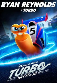 Turbo, DreamWorks Animation's latest film, hits theaters today with an all-star cast including Ryan Reynolds, who lends his voice Dreamworks Movies, Dreamworks Animation, Animation Film, Computer Animation, Ryan Reynolds, Hd Movies, Movies Online, Movies Free, Comedy Movies