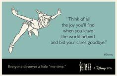 """Everyone deserves a little """"me-time."""" #WaltDisneyWorld #Spa #PeterPan"""
