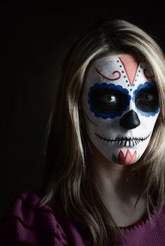 day of the dead self portrait :) by Morgan Ferrell