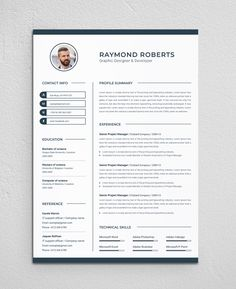 Clean & Modern Resume/cv template to help you land that great job. The flexible page designs are easy to use and customize, so you can quickly tailor-make your resume for any opportunity. Functional Resume Template, Resume Template Free, Creative Resume Templates, Simple Resume, Modern Resume, Letterhead Design, Resume Design, Infographic Resume, Good Resume Examples