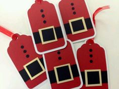 Christmas tags - i just love things with the santa belt buckle