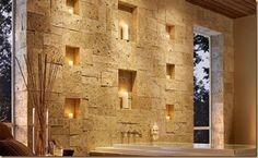 Eldorado Stone - Inspiration for Stone Veneer Fireplaces, Stone Facades, Stone Interiors and Decorative Stone Wall, Pierre Decorative, Candle Wall Decor, Unique Wall Decor, Stone Interior, Interior Walls, Antique Interior, Diy Interior, Luxury Interior