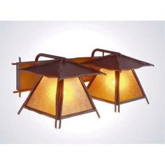 Steel Partners Bundle of Sticks 2 Light Outdoor Wall Lantern Shade Color: Khaki, Finish: Old Iron
