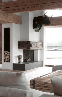 textures fireplace