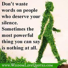 a little bit of wisdom.....