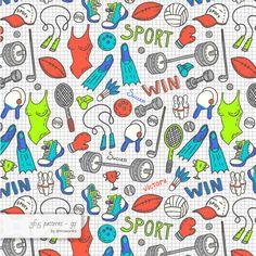 Sportish #pattern #surfacedesign #365 #365patterns #art #mzwonko