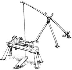 Viking pole lathe, for wood turning. Simple, but ingenious, device. http://www.vikinganswerlady.com/wood.shtml